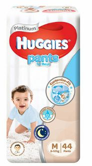 Huggies Platinum Pants Boy M 44S