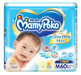Mamy Poko Extra Dry Diapers M 60S
