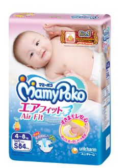 Mamy Poko Air Fit Diaper S 84S