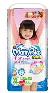 Mamy Poko Air Fit Pants Girl XL 38S