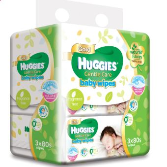 Huggies G/Care Baby Wipes 3X80S
