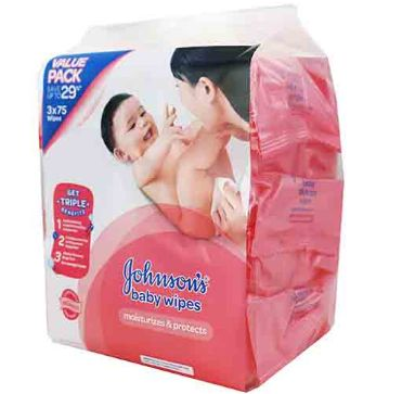 J&J Baby Wipes Fragrance 3X75S
