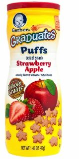 Gerber Graduates Puffs Straw Apple 42G