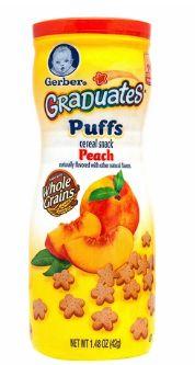 Gerber Graduates Puffs Peach 42G