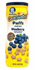 Gerber Graduates Puffs Blueberry 42G