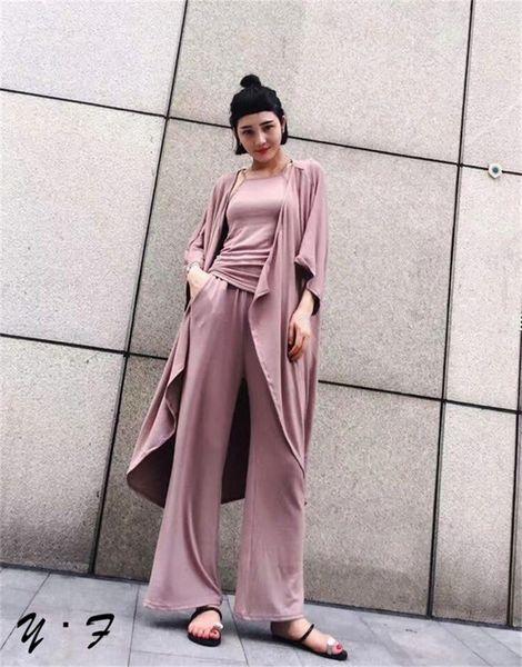 Elegant Three Pieces Cardigans Women Suits