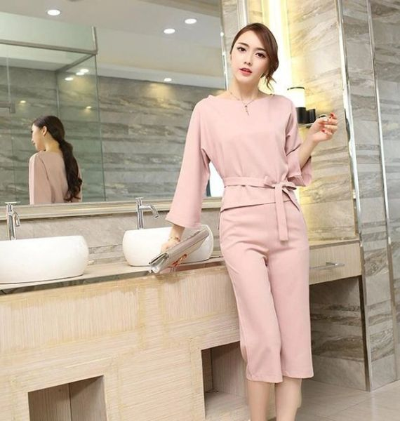 Wholesale Loose Casual Solid Ladies Suits