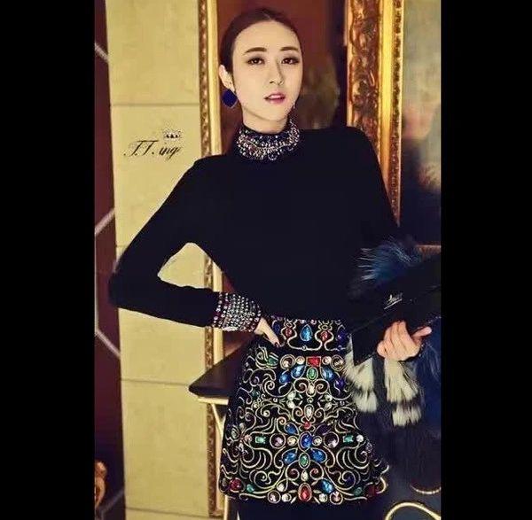 Luxury Design Beading Tops With Diamond Fashion Dresses