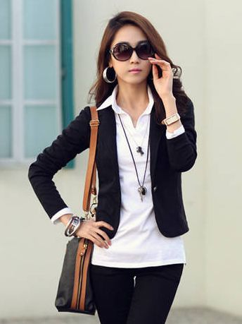 Hot Sale Pure Color One Button Slim Casual Suit