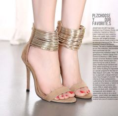 European And American Style Zipper Bandage Stiletto Pumps