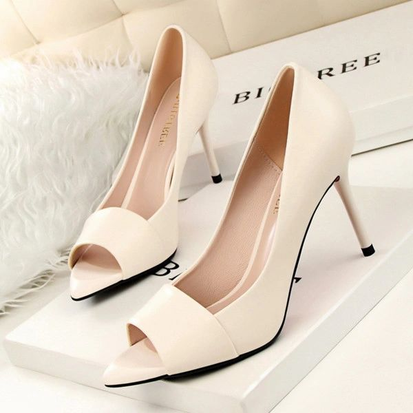 Fashion Peep Toe Thin Heel Casual Pump