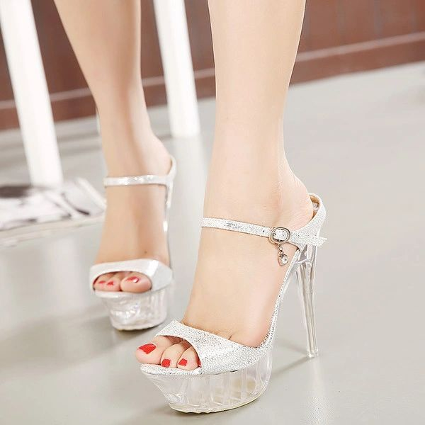 Club Stiletto Buckle High Heels Sandals Pumps