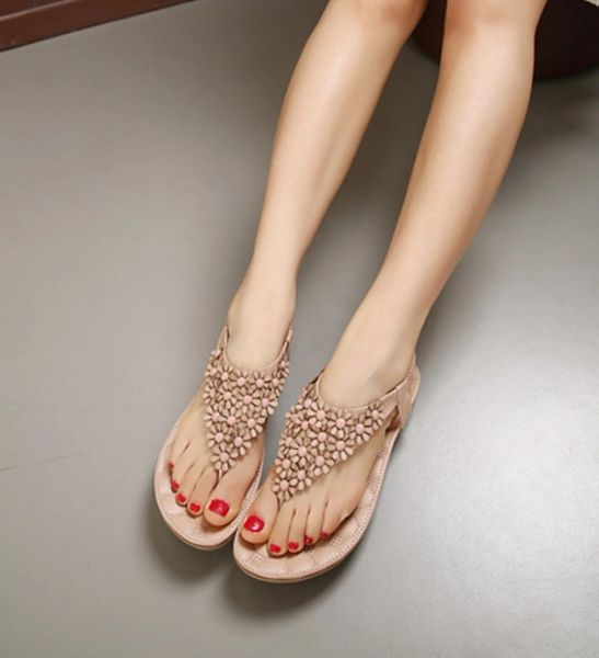 Lovely Casual Toe Post Flower Women Sandal