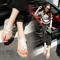 Simple Diamond Casual Flat Sandal