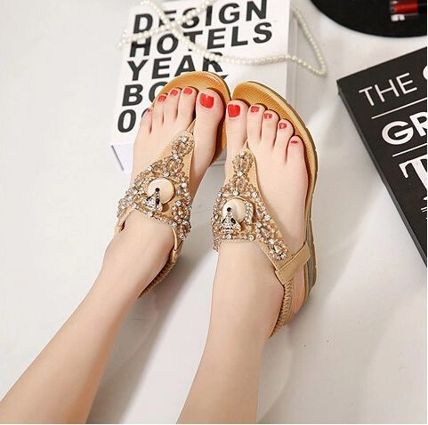 Casual Diamond Wedge Women Sandal