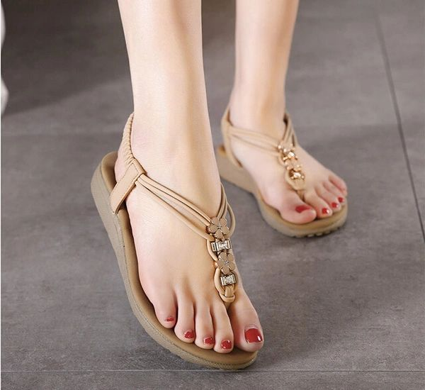 Simple Casual Toe Post Flat Women Sandal