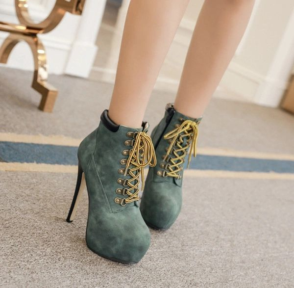 New Arrival Platform Stiletto Heel Bandage Ankle Boot