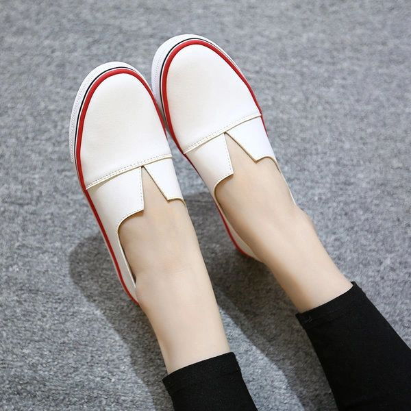 Summer Popular Round Toe All Match White Flat