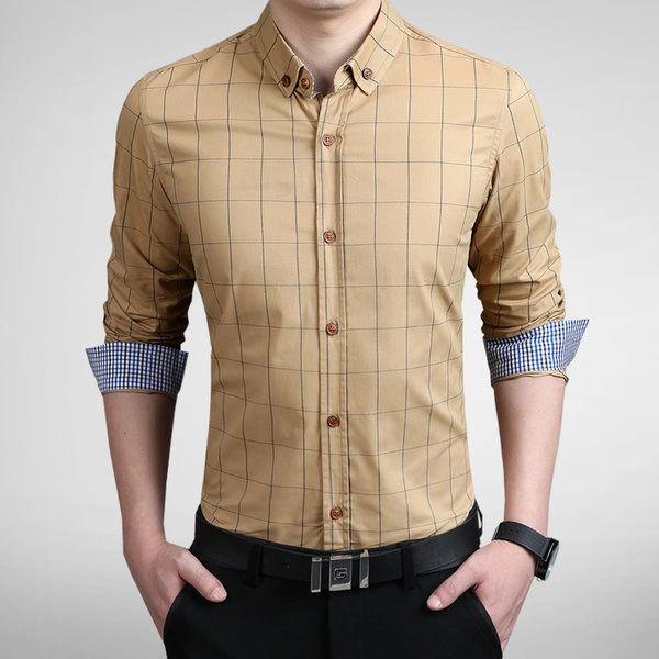 Low-cost Men Charming Turndown Collar Fall Half Sleeve Shirts