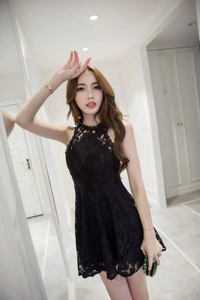 Summer Sexy Off Shoulder Hollow Out Little Black Dress