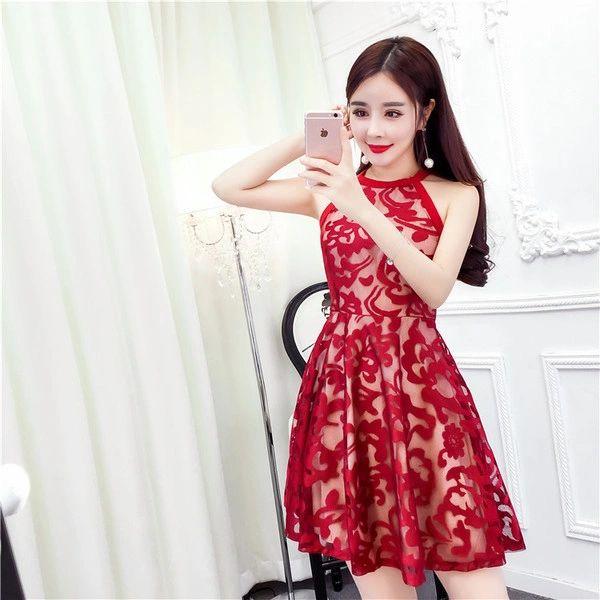 Off Shoulder O Neck Black Lace Dress