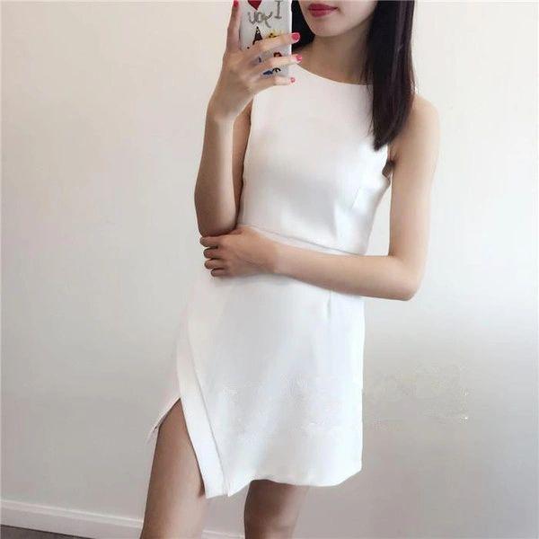 Korean Sexy Off Shoulder Slit Wrap Mini Dress