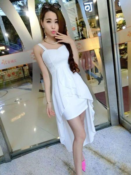 Custom Design Asymmetrical Hem Dresses