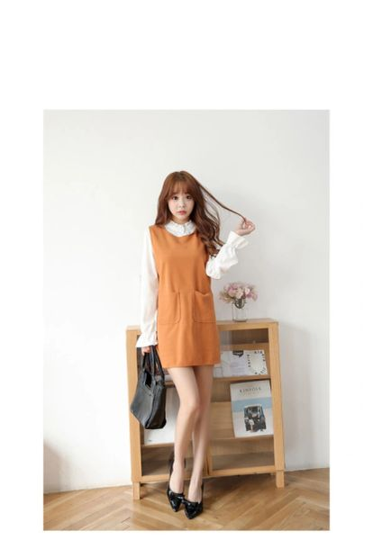 Fashion Women Solid Mini Two Pieces Dress
