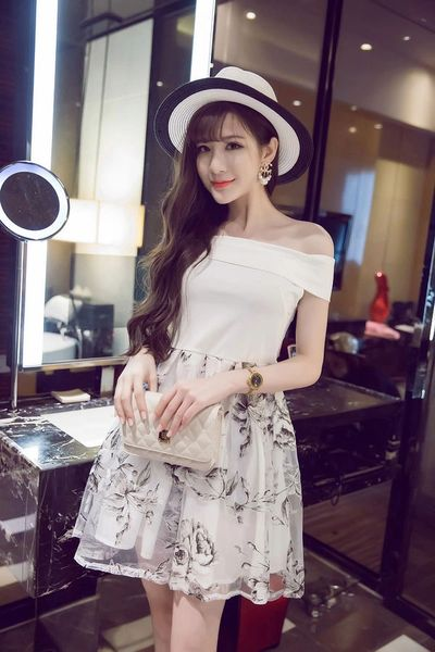Women High-end Floral Printing Dress
