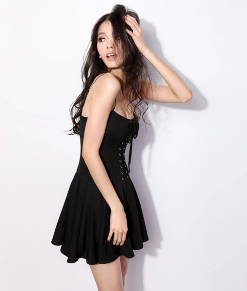 Smoke Hot Bandage Solid Color Fluffy Straps Prom Dress