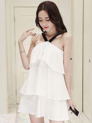 Design Halter Neck Tiered Loose Dress