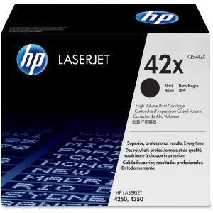 HP 42X BLACK HIGH YIELD LASERJET TONER CARTRIDGE Q5942X