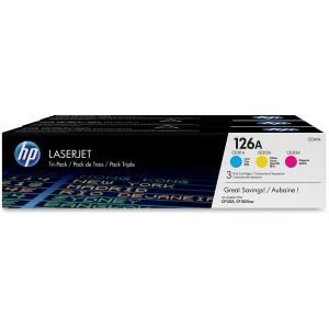 HP 126A CYM COMBO PACK LASERJET TONER CARTRIDGE-CF341A