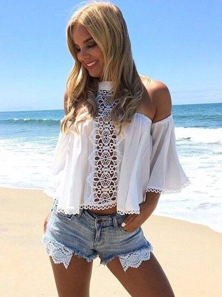 New Off The Shoulder Blouse Beachwear