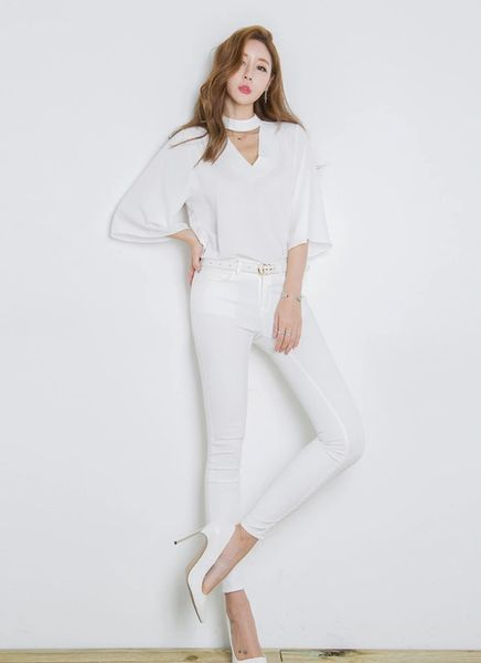 Stylish Flare Sleeve Blouse For Woman