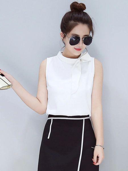 Korean Design Chiffon O-Neck Blouses