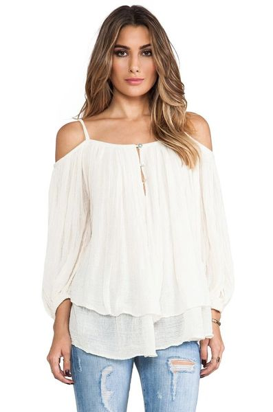 New Arrival Off Shoulder White Blouse