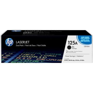 HP 125A BLACK TWIN-PACK LASERJET TONER CARTRIDGE CB540AD