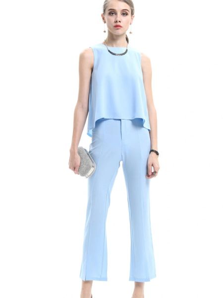 O Neck Top Loose Long Pants Women Suit