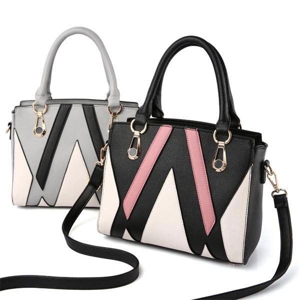 Simple Design Contrast Color Shoulder Bags(3-4 Days Delivery)