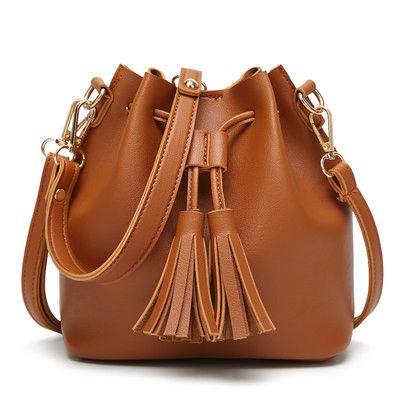 Cheap Simple Design Solid Tassel Pattern Elastic Shoulder Bags
