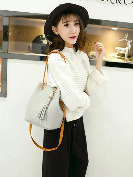 Street Style Fringe Hasp Tote Shoulder Bag