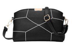 Cheap Outlet Geometric Print Zipper Shoulder Bag