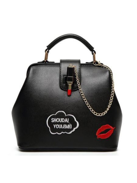 New Letter Lip Metal Chain Handle Bag