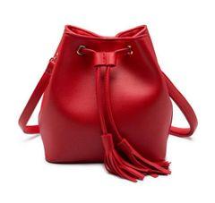 Solid String Fringe Tote Shoulder Bag