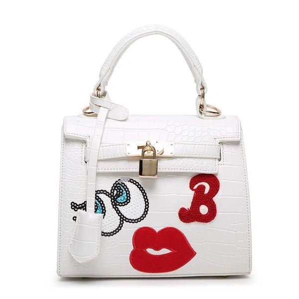 Cartoon Pattern Hasp Square Handle Bag