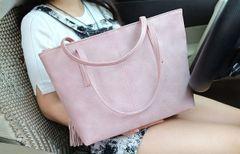 Outlet Fashion Fringe Zipper Women Handle Bag