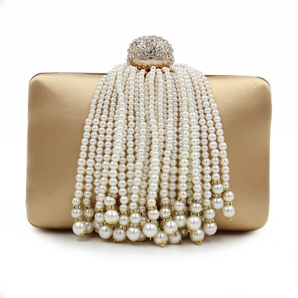 Solid Pearl Pendant Noble Evening Hand Bags