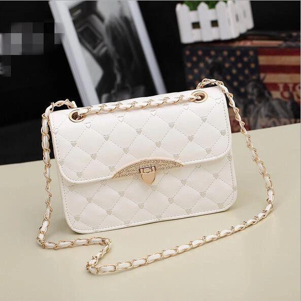 Modest Diamond Pattern Shoulder Bag For Woman