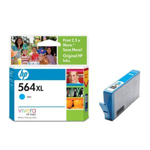 HP 564XL CYAN INK CARTRIDGE CB323WA